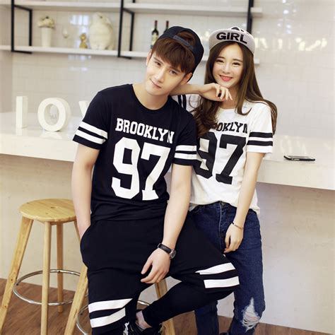 couple clothes 2015 summer lovers tops T shirt short ...