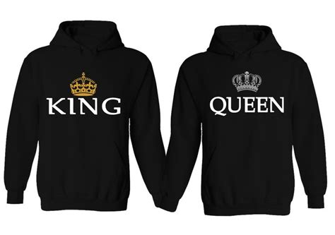 Couple Hoodie   King & Queen Matching His and Her Hoodies ...