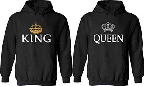 Couple Hoodies   King & Queen Matching His and Her Hoodies ...