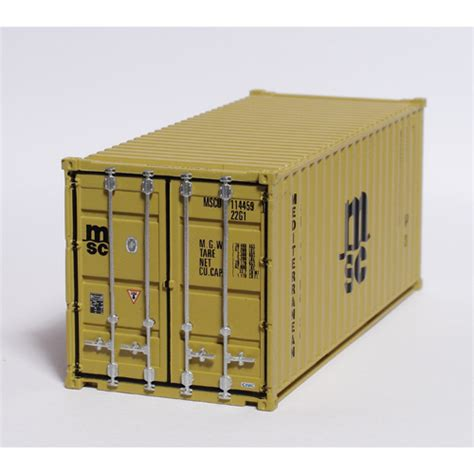 CR40 C Rail 20ft Container number MSCU 114459 22G1 in MSC ...