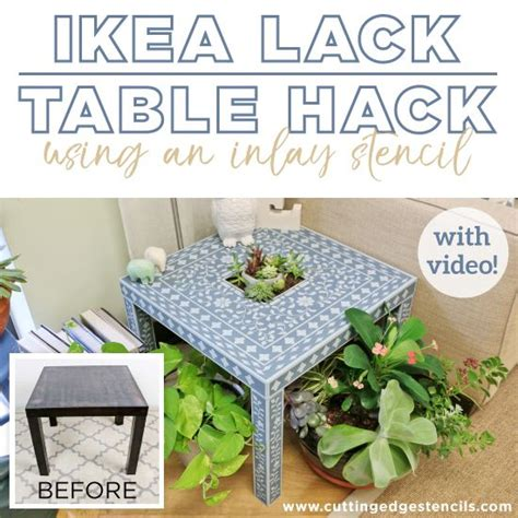 Crafting with stencils Archives   Ikea lack table, Lack ...