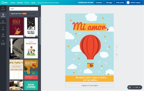 Crea carteles de amor personalizados online gratis   Canva