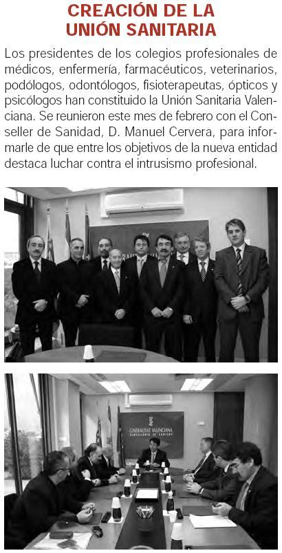 CREACIÓN DE LA UNIÓN SANITARIA VALENCIANA – Grupo de ...