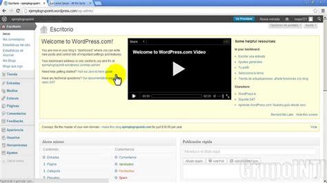 Crear BLOG gratis con WORDPRESS parte 2   YouTube