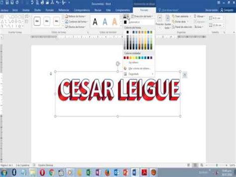 CREAR TEXTO 3D EN WORD/BONITAS LETRAS EN WORD   YouTube