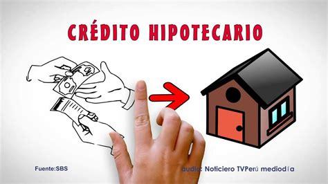 CREDITO HIPOTECARIO   YouTube