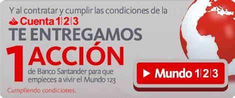 Creditos Hipotecas: La cuenta 1 2 3 Banco Santander ...