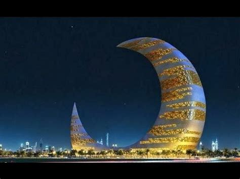 Crescent Moon Tower in Dubai   YouTube