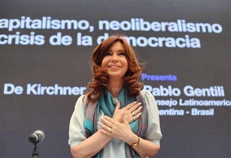 """Cristina Kirchner: """"Hoy la Argentina vuelve a tener el ..."""