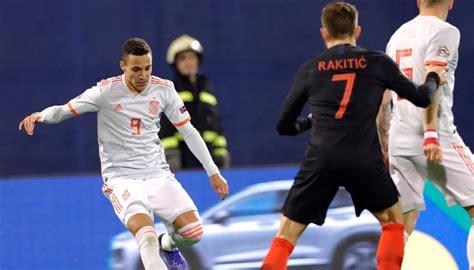 Croacia   España: Resultado de la UEFA Nations League de ...