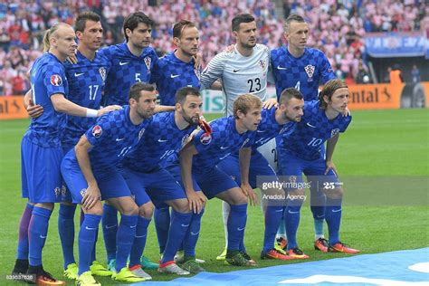 Croatian players pose for a team photo prior to the EURO ...