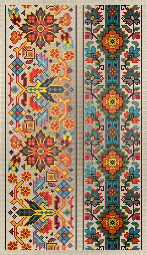 Cross Stitch Pattern Sampler Vintage Borders by ...
