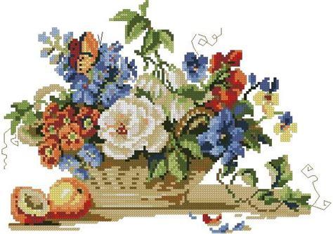 cross stitch patterns free printable flowers   free ...