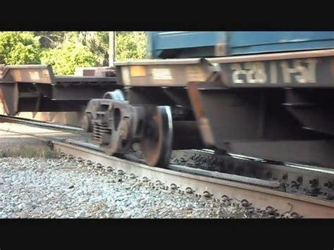 CSX Container Intermodal Train Over Bad Tracks At Crossing ...
