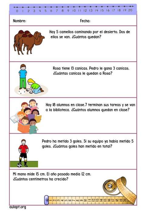 Cuadernillo de problemas para 1º   Aula PT | MATES ...