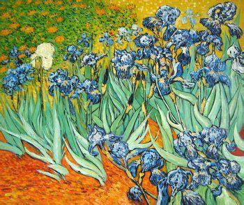 Cuadro de Los lirios de Van Gogh   Pintores famosos in ...