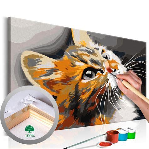 Cuadro para pintar por números Gato naranja en 2020 ...