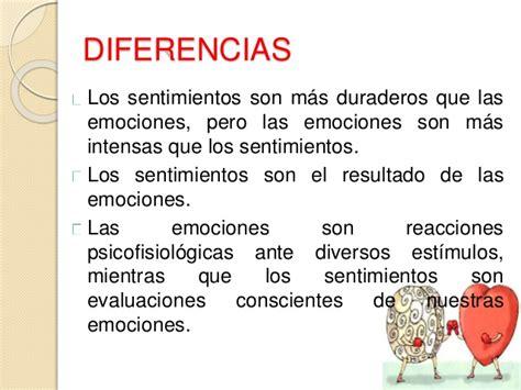 Cuadros comparativos de diferencias entre emoción y ...