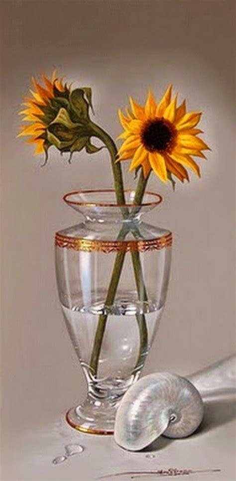 cuadros de bodegones hiperrealistas con flores al oleo ...