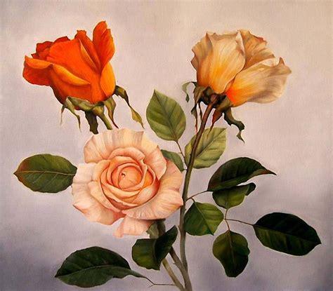 Cuadros de rosas al oleo   Imagui