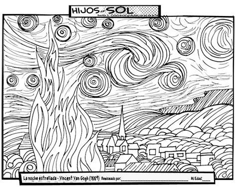 Cuadros de Van Gogh para colorear | laclasedeptdemontse