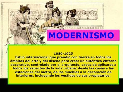 Cuadros sinópticos sobre el Modernismo   Cuadro Comparativo