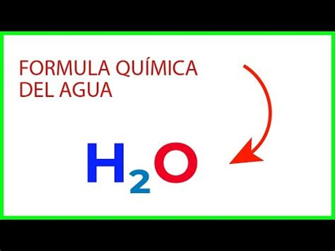 Cual es la formula quimica del agua   YouTube