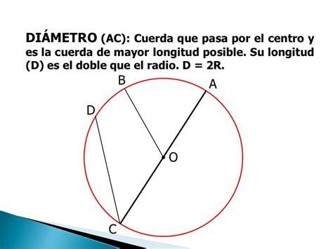 cual es la linea de mayor longitud en un circulo   Brainly.lat