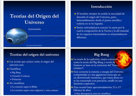 Cuáles Son Las Teorías Sobre El Origen Del Universo