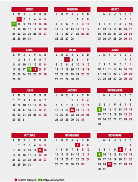 Cuáles son los festivos del calendario laboral 2019 de ...
