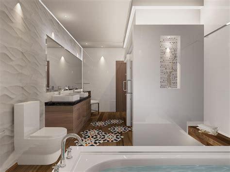 Cuarto de baño de estilo contemporáneo. Materiales ...