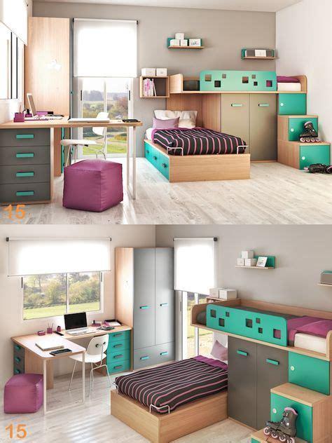 cuarto dormitorio juveniles escritorio silla camas ...