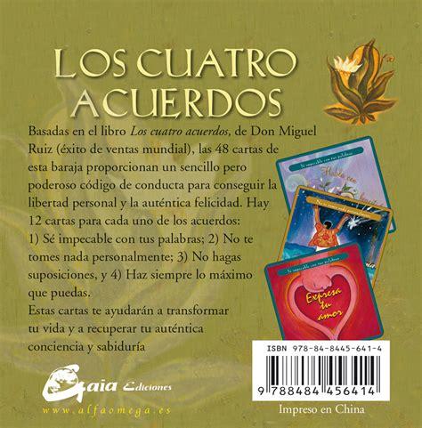 Cuatro acuerdos, Los. Sabiduría tolteca 48 cartas. Ruiz ...