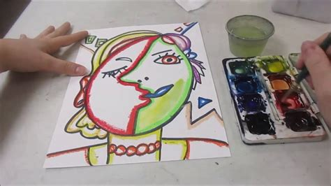 Cubism Face  Picasso Style   YouTube