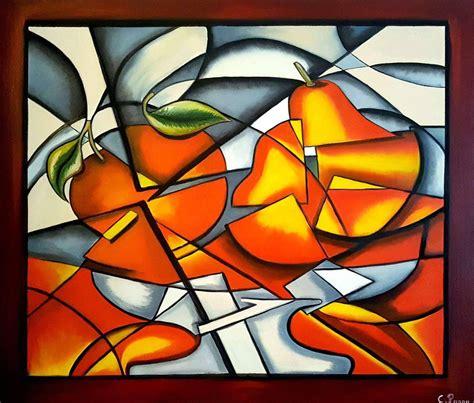 Cubism Fruits Painting by Christina Panou | Saatchi Art