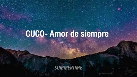 CUCO  Amor de siempre  Lyrics    YouTube
