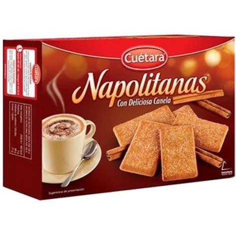 CUETARA Galletas Napolitanas con canela caja 500 grs