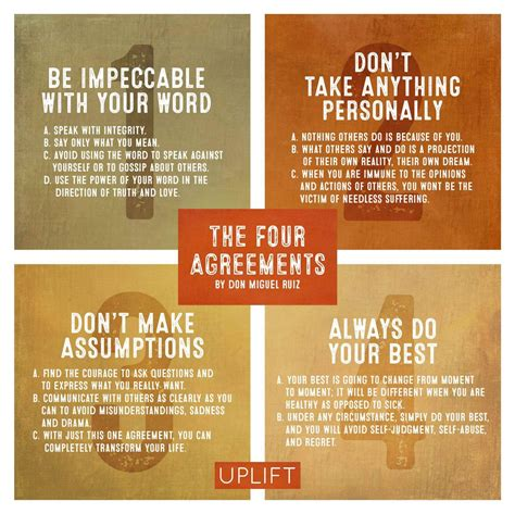 Cultural Lessons and Proverbs: The four agreements