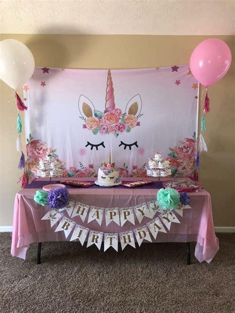 Cumple de unicornio   Decoracion unicornio cumpleaños ...