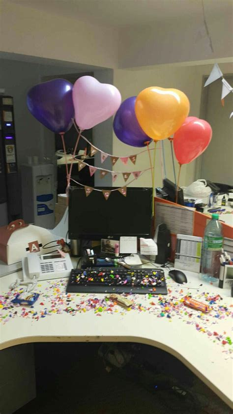 Cumpleaños decoracion oficina   Decoraciones de cumpleaños ...