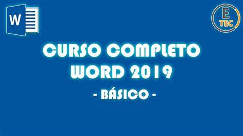 CURSO COMPLETO WORD BÁSICO 2019   YouTube