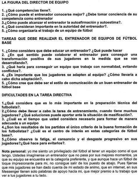 CURSO DE ENTRENADOR DE FUTBOL NIVEL 1: Preguntas sobre el ...