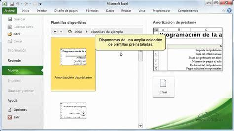 Curso de Excel 2010. 3.3. Crear un nuevo libro.   YouTube
