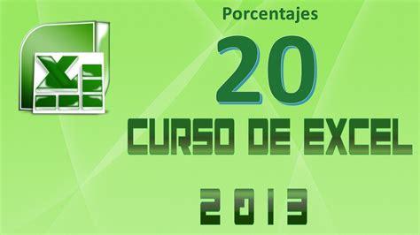 Curso de Excel 2013   Clase 20: Trabajando con Porcentajes ...