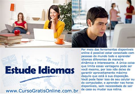 Curso de Idiomas Online e Gratis   CURSOS GRATUITOS