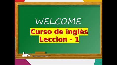 Curso De Ingles   Leccion 1   Clases de INGLES GRATIS # ...