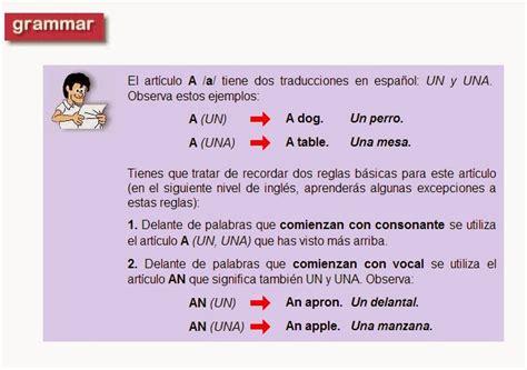 Curso de Ingles: Los Articulos en Ingles