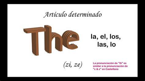 Curso de Ingles:  the  Artículo Definido   YouTube