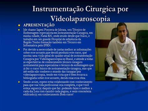 Curso de Instrumentação Cirurgica geral por video ...