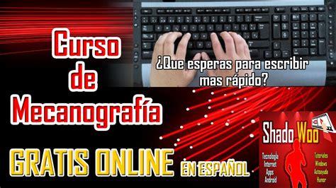 Curso de mecanografía online gratis en español   Aprende ...